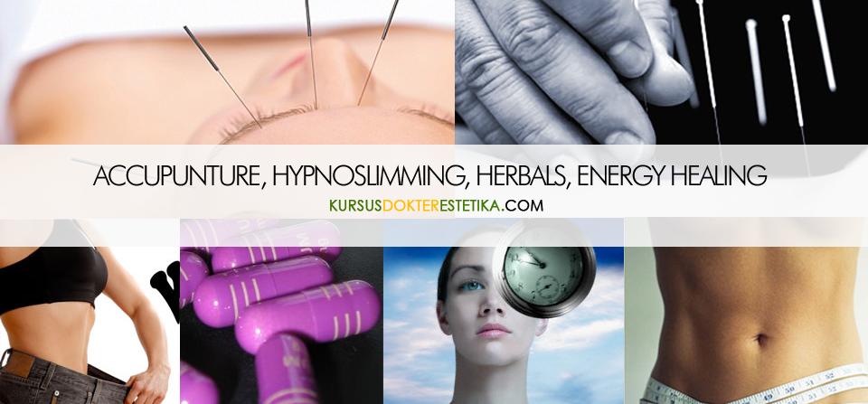 Akupuntur pelangsingan, hipnoterapi, herbal dan energi